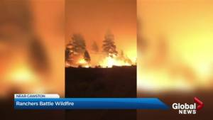 Extended interview: Richter Mountain residents battle blaze near homes (04:57)