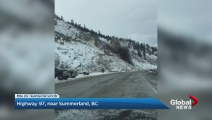 Rockblasting along Highway 97 in the Okanagan