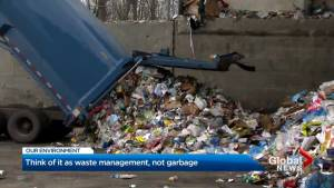 Think of it as waste management, not garbage
