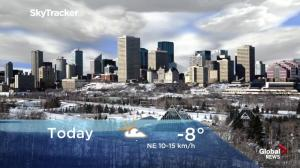 Edmonton early morning weather forecast: Tuesday, January 15, 2019