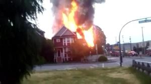 Fire burns four homes in Vancouver's Strathcona neighbourhood