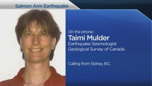 Earthquake near Salmon Arm