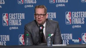 Nick Nurse says Kawhi Leonard has 'tremendous will, tremendous desire'