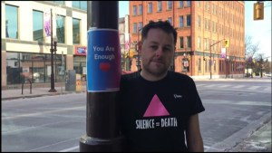 Peterborough man spreads messages of inspiration in the city