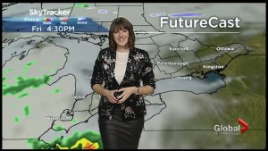 Mainly cloudy and showers for Saturday with above seasonal temperatures