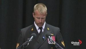 Const. Douglas Larche's brother Daniel gives emotional eulogy