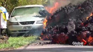 Car destroyed as lava from Hawaii's Kilauea volcano continues to spread