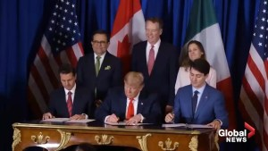 Trump's video about two years of his presidency includes signing of USMCA with Trudeau