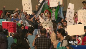 Gaza protestors, supporters of Israel in downtown Calgary