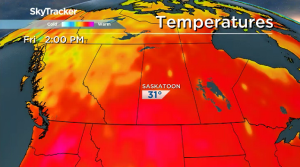 Saskatoon weather outlook: calm, sunny and warm for now…