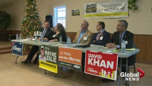 Candidates clash in Calgary-Lougheed byelection debate.