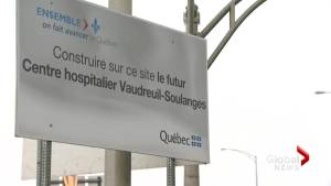 Quebec keeping options on the table for Vaudreuil hospital (02:05)