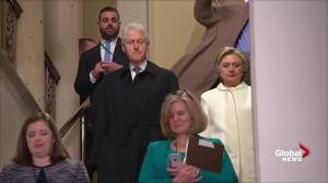 Trump inauguration: Hillary and Bill Clinton arrive on Capitol Hill