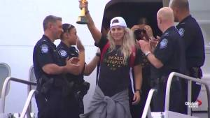 U.S. women's team arrive home after winning FIFA World Cup