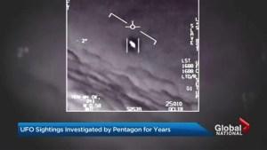 Pentagon reveals secret UFO program