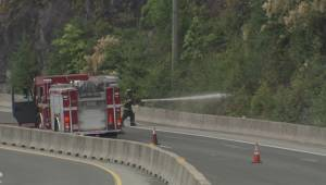 Fire crews battle wildfire north of West Vancouver
