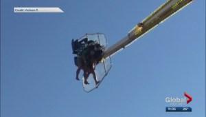 Several people stuck on 'Mach 3' ride at Calgary Stampede Saturday
