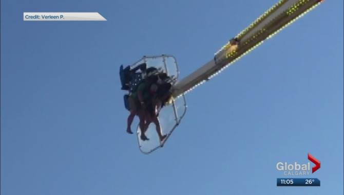 Several People Stuck On Mach 3 Ride At Calgary Stampede