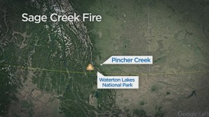 Sage Creek Fire now 3km from Alberta border