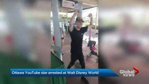 Ottawa YouTube performer arrested after complaining at Disney World (02:41)