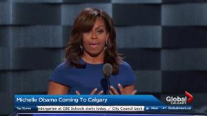 Michelle Obama visits Calgary in March 2018 for speaking engagement