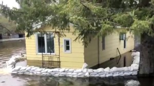Homes along Ottawa River remain under water
