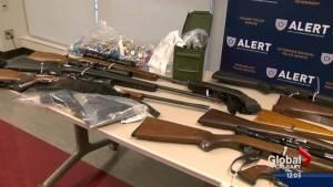 16 stolen guns seized in Red Deer