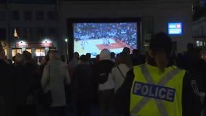 Kingston Raptors fans out in force at market square