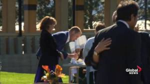 Prince William  and Kate interact with kid chefs at Mission Hill winery in B.C.