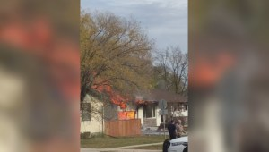 Viewer video shows fire tear through Winnipeg home