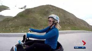 Jodi Hughes checks out the Skyline Luge at WinSport