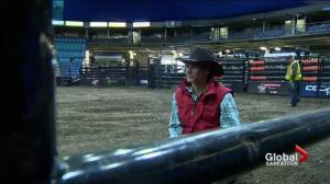Cody Coverchuk riding for father at PBR Canada Finals