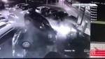 Several cars damaged after vehicle crashes into Toronto used car dealership lot