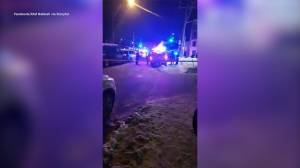Raw video: police block off scene of Quebec City mosque shooting