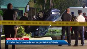Police recover couple's bodies in vehicle submerged in Lake Ontario (02:10)