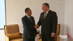 North Korean official arrives in U.S. for talk with Pompeo