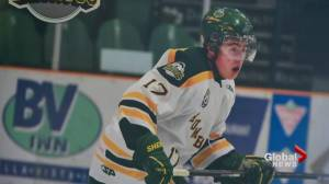 Humboldt Broncos bus crash victim Evan Thomas remembered at SaskTel Centre