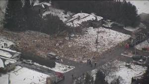 Home explosion levels home in Caledon, 1 killed (01:41)