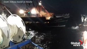 Raw video shows violent clashes between French and British fishermen