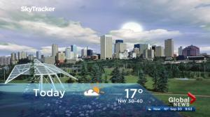 Edmonton morning weather forecast: Saturday, September 30, 2017