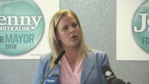 Winnipeg mayoral candidate Jenny Motkaluk outlines her top platform priority