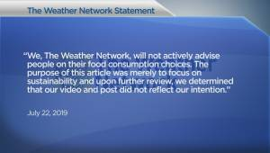 Alberta beef producers meet with The Weather Network over tweet that infuriated meat eaters