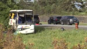 Man dies in hospital after bus crash near Prescott