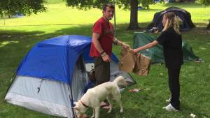 Dealing with a tent city in Peterborough
