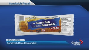 Sandwich Recall Expanded