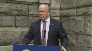 Horgan speaks about B.C. legislative spending scandal following release of Plecas report
