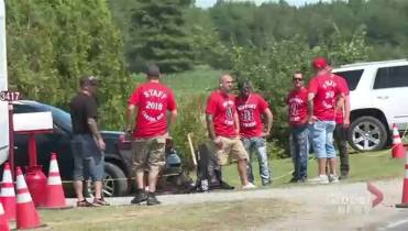 High-profile Hells Angel wedding takes place in downtown
