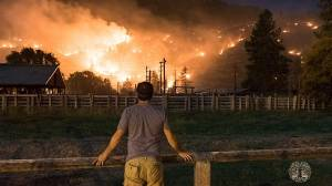 Okanagan Falls wildfire 50 per cent contained Monday morning (01:27)