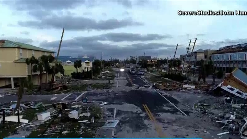 Florida resident surveys 'total devastation' from Hurricane Michael