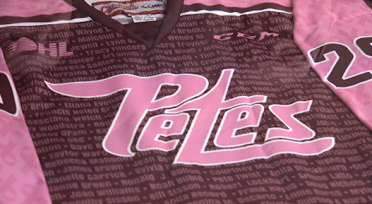 Peterborough Petes to hold Pink in the Rink event in February ... c63faddc8